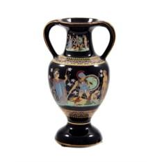 Черная декоративная керамическая ваза