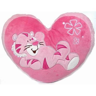 Подушка декоративная Сердце розовое