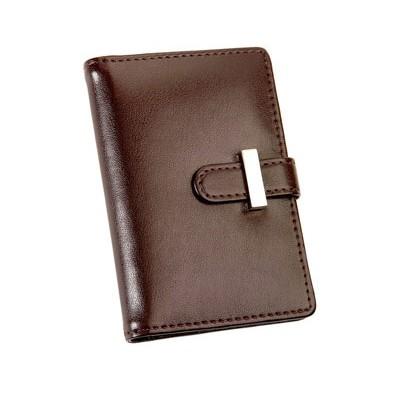 Коричневый футляр для визитных, кредитных и дисконтных карт