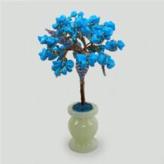 Миниатюрное дерево из бирюзы На счастье