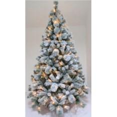 Оптоволоконная заснеженная елка со светодиодами