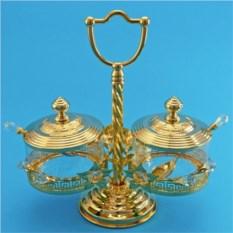 Золотистый набор для варенья