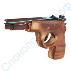 Деревянный пистолет стреляющий резинками