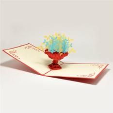 Объемная 3D открытка Клумба с цветами