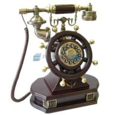 Кнопочный ретро-телефон Штурвал
