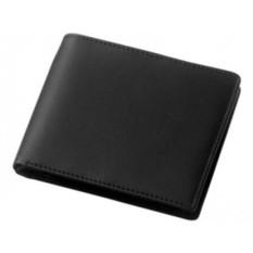 Черный кожаный бумажник Harvard