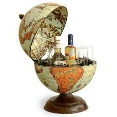 Глобус-бар Zoffoli настольный, на три бутылки