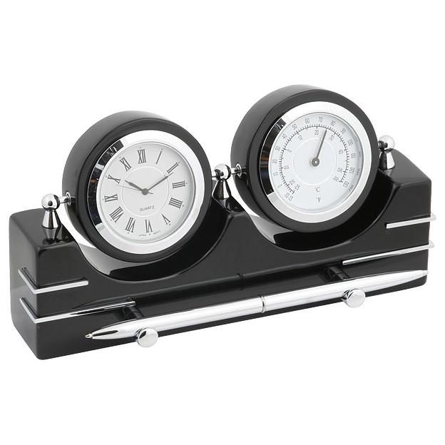 Часы настольные с термометром и гигрометром