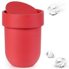 Красный мусорный контейнер Touch с крышкой