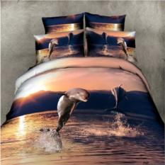 3D-постельное белье Вместе с дельфинами