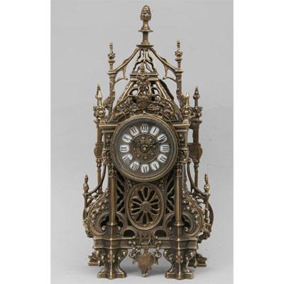 Часы  настольные из бронзы «С ландышами» Virtus