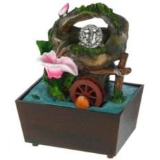Настольный декоративный фонтан с подсветкой Цветок у воды