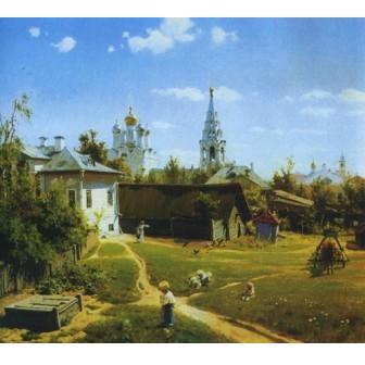 Репродукция картины Московский дворик