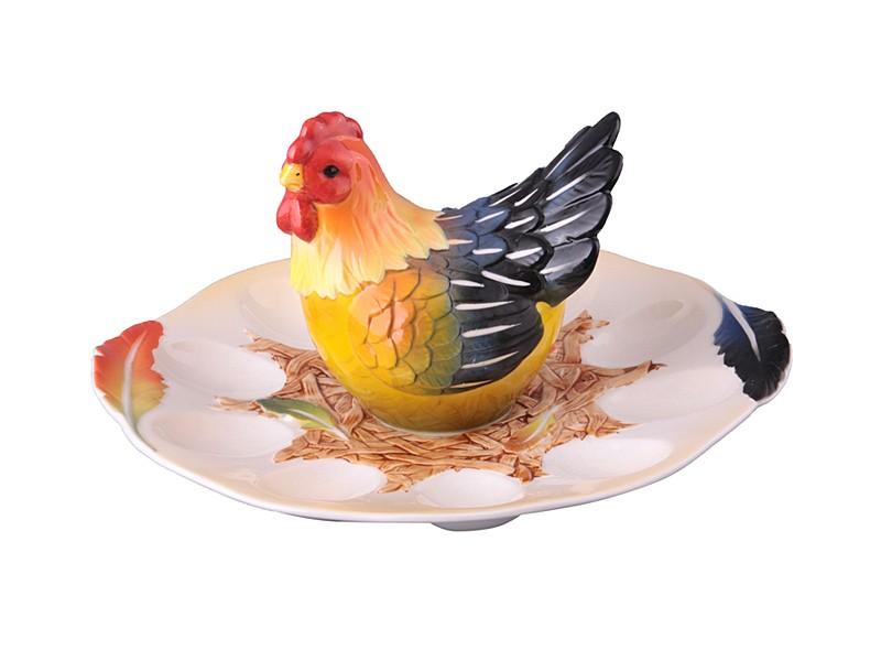 Тарелка для яиц Курочка