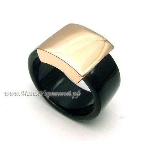 Кольцо с золотым напылением