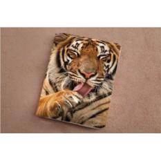 Горизонтальный кардхолдер Довольный тигр