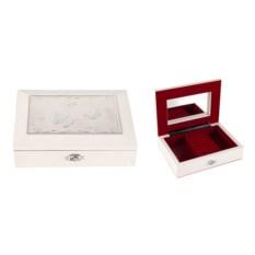 Белая шкатулка ювелирная Moretto, размер 18х13х5см