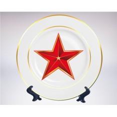 Сувенирная тарелка «Кремлевская звезда»