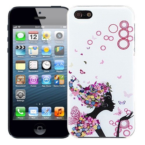 Чехол для iPhone 5/5S Butterflies - Sitting gir