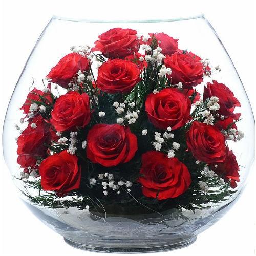 Цветочная композиция Рубиновые розы