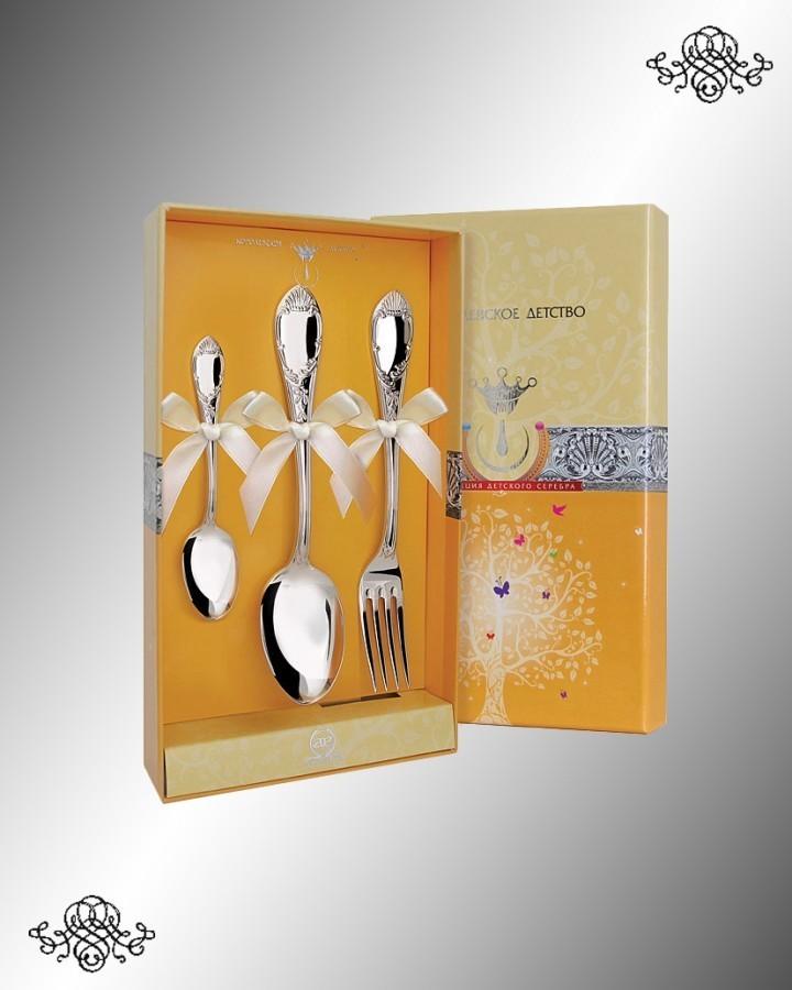 Серебряный десертный набор «Престиж»