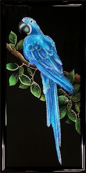 Хрустальная картина Swarovski Попугай Ара