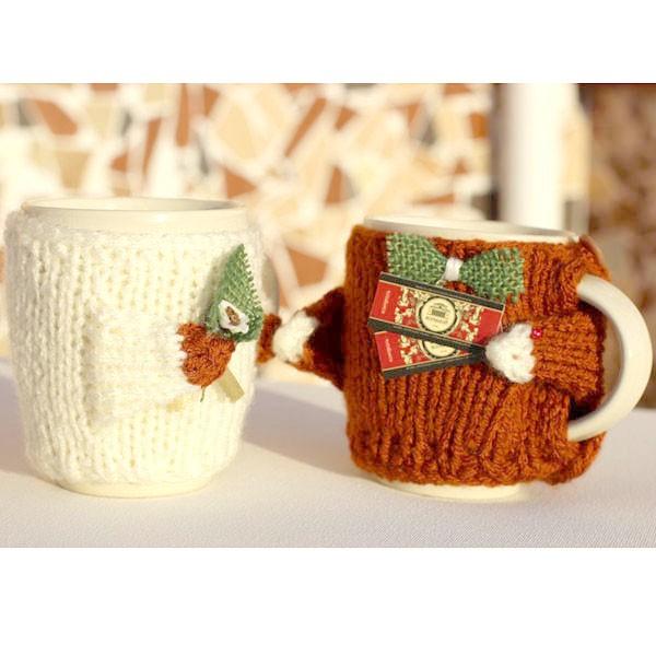 Набор свитеров  на чашку Он и Она