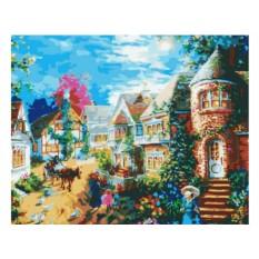 Картины по номерам «Вечерний поселок»