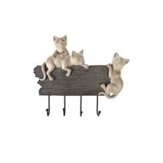 Декоративная вешалка Дружелюбные котики