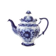 Заварочный керамический чайник Гжель. Семейный №1
