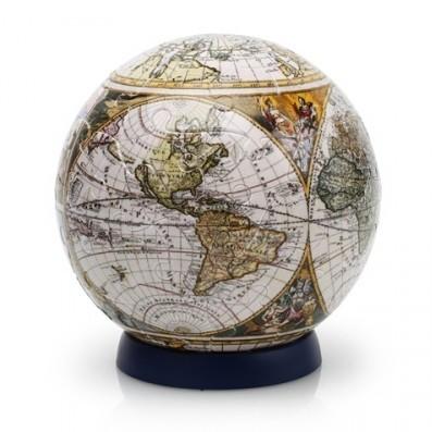 Шаровый пазл «Старинная карта мира».