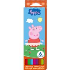 Цветные карандаши «Свинка Пеппа»