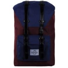 Большой бордовый с синим городской рюкзак Сердце