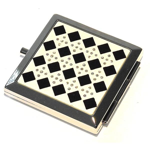 Зеркало квадратное Черные ромбы