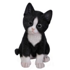 Декоративная садовая фигурка Котёнок чёрно-белый