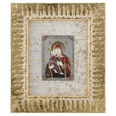 Позолоченная Икона Божьей Матери Владимирская