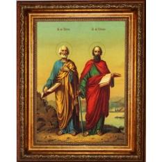 Петр и Павел  Святые апостолы. Икона на холсте.