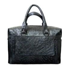 Сумка-портфель из натуральной кожи страуса