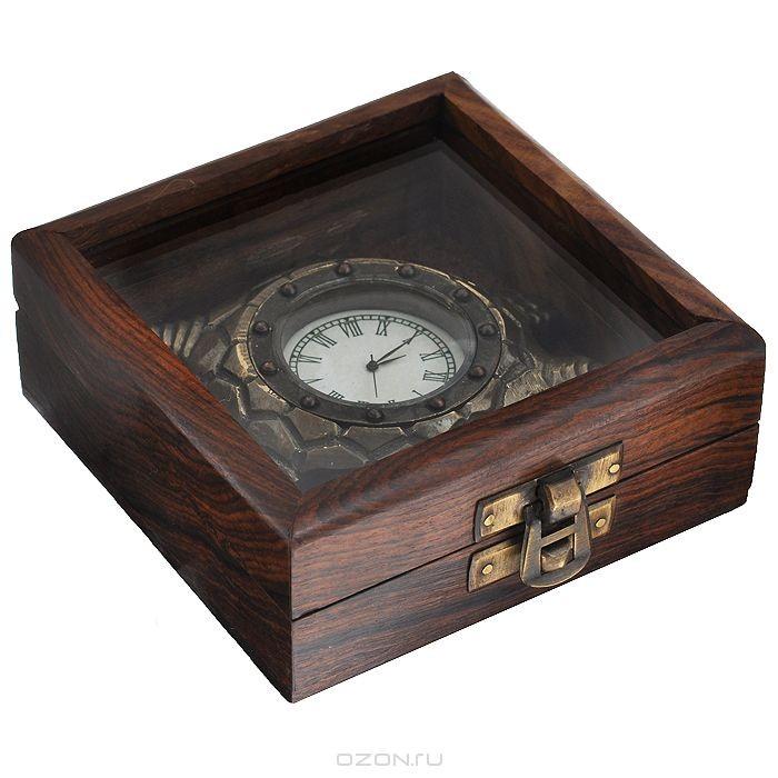 Часы сувенирные Черепаха, цвет: бронзовый.