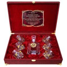 Набор бокалов для виски со штофом Герб