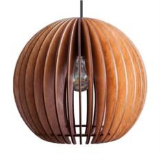 Деревянный подвесной светильник Лампа Сфера