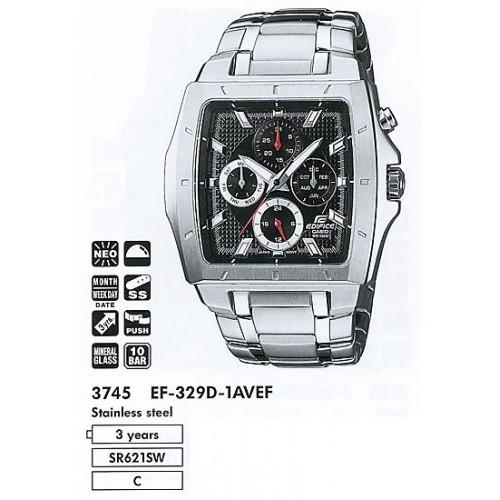 Мужские наручные часы Casio Edifice EF-329D-1A