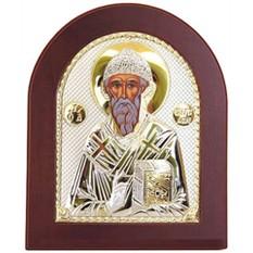 Спиридон Тримифунтский. Икона в серебряном окладе.