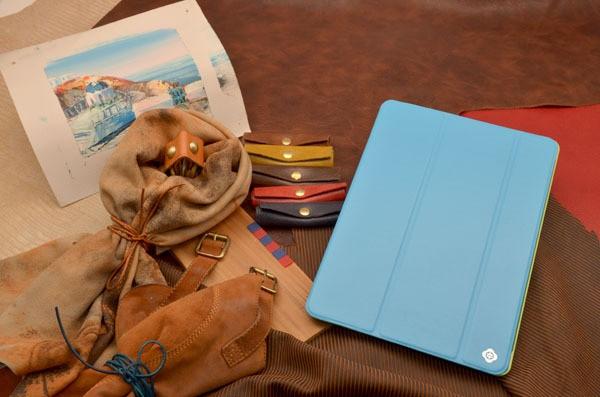 Кожаный чехол TOTU для iPad 5 Air «Голубой ураган» (голубой)