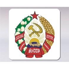 Подставка под кружку «Герб Узбекской ССР»