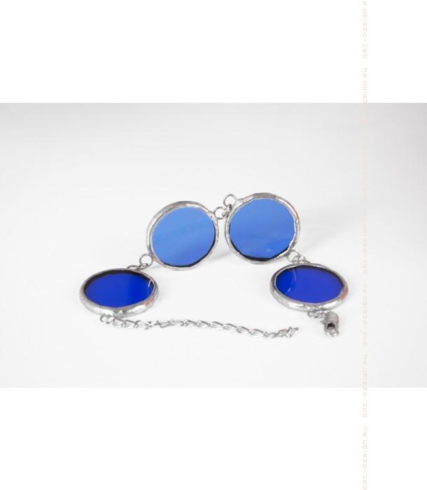 Браслет круглый Цветное стекло (синий)