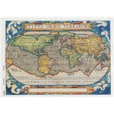 Рисовая карта для декупажа Кустарь Старинная карта мира №3