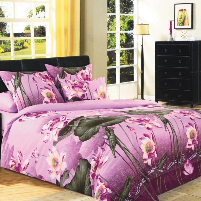 Комплект постельного белья Цветок лотоса (2-спальный)