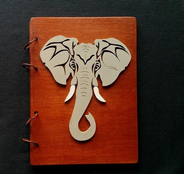 Деревянный блокнот Слон
