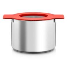 Красная кастрюля Gravity с крышкой-фильтром на 5 л